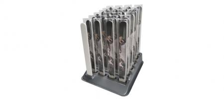 Display for Professional Nail Files in Transparent Folding Box